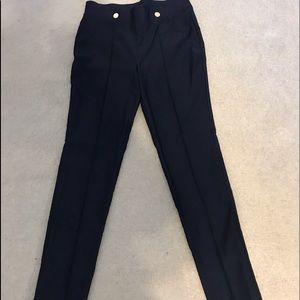Navy Anne Klein slim pants